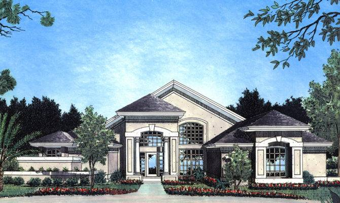 Hanson Sunbelt Stucco Home Plan House Plans More
