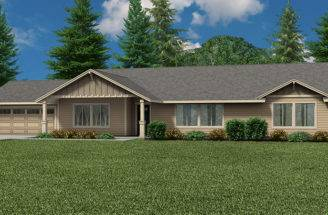 Helens Ranch Style Custom Home Floor Plan Dual Master Suite