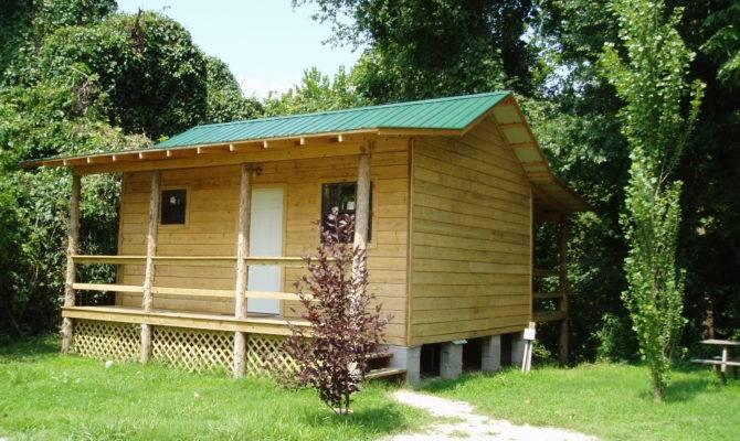 Heron Cabin One Room Front Back