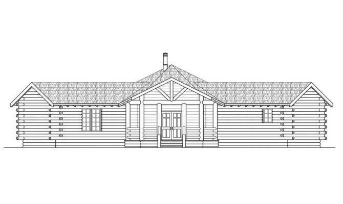 Hexagonal House Plan Ridgeline Front Elevation