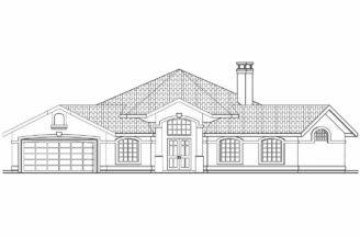 Hexagonal House Plan Sierra Front Elevation