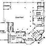 Home Center Courtyard Hwbdo Mediterranean House Plan