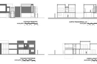 Home Design Contemporary Elevation Section Layout Plan
