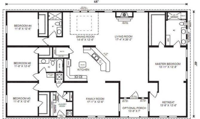Home Floor Plans Bedroom Bath Double Wide Google Search