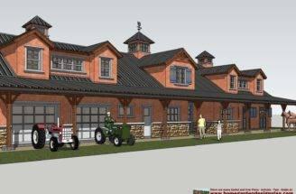 Home Garden Plans Horse Barn Design
