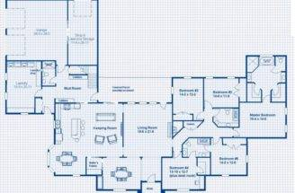 Home Large Utility Room One Story Bedroom House Plans