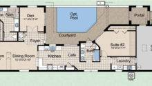 Home Narrow Lot House Designs Courtyard Plans Pool