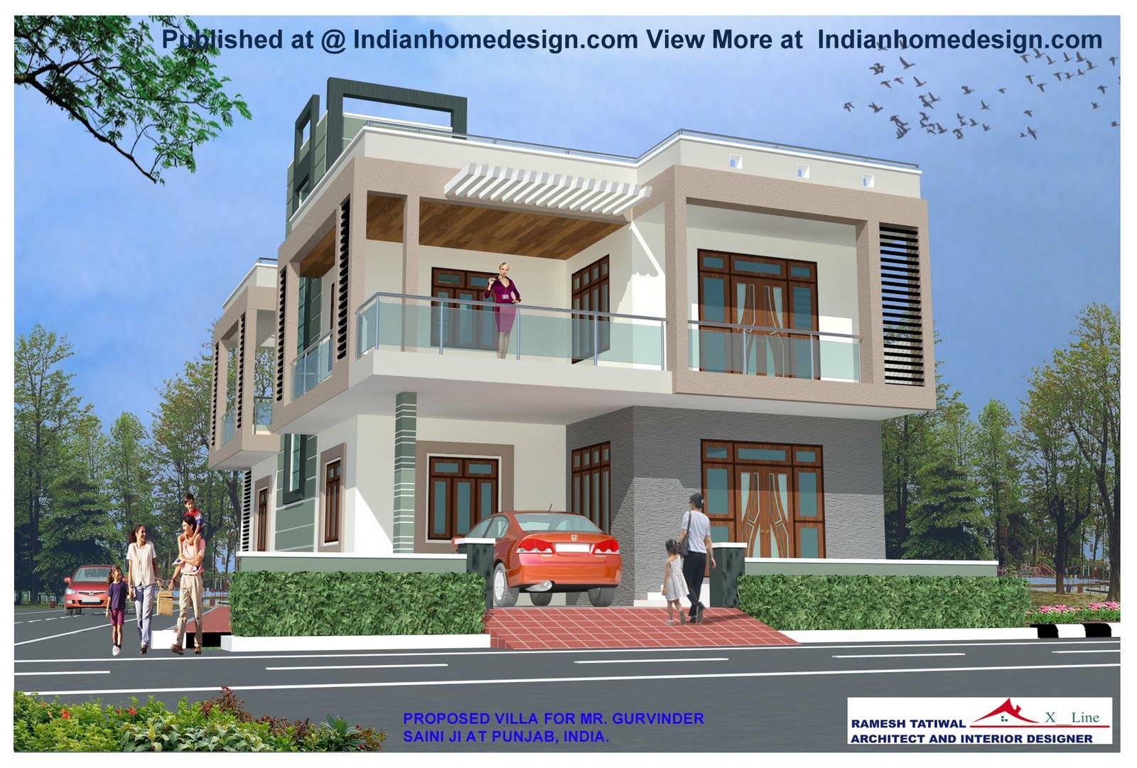 Surprisingly Front View Home Design Home Building Plans - Home designs in india