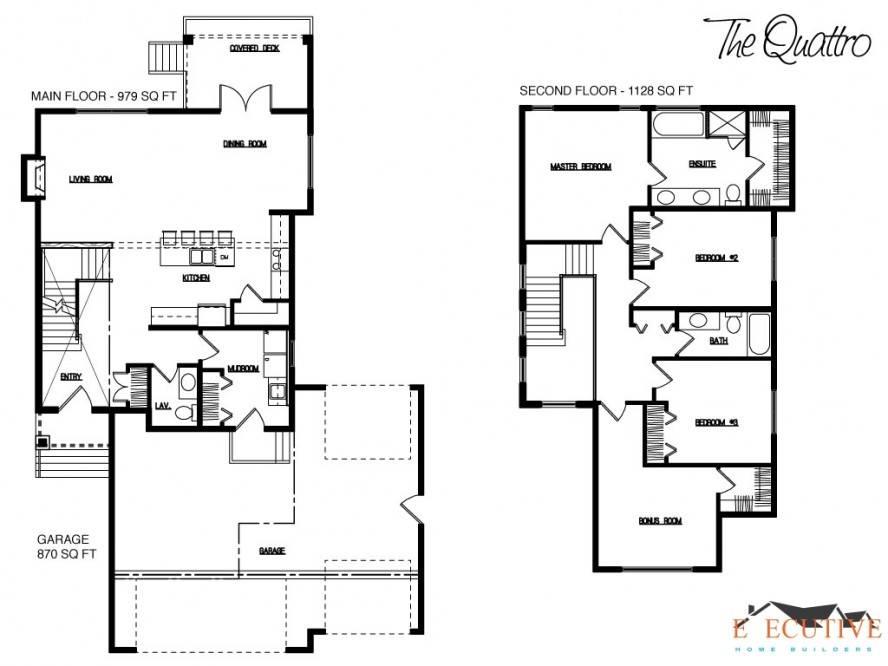 House Floor Plan Design Blue Print Small Double Storey
