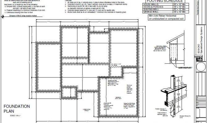House Foundation Plan Sds Plans