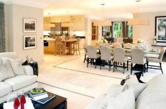 House Marketing Open Plan Kitchen Dining Area Burford