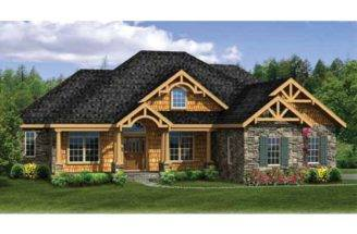 House Plan Craftsman Ranch Finished Walkout Basement