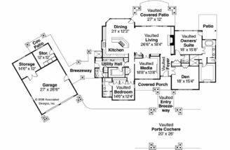 House Plan Detached Garage Arborgage Left Elevation