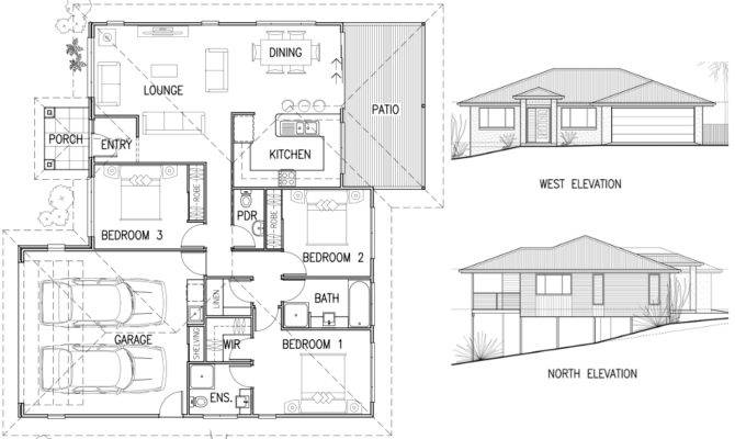 House Plan Elevation Combined