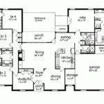 House Plan Five Bedroom Tudor Square Feet Bedrooms