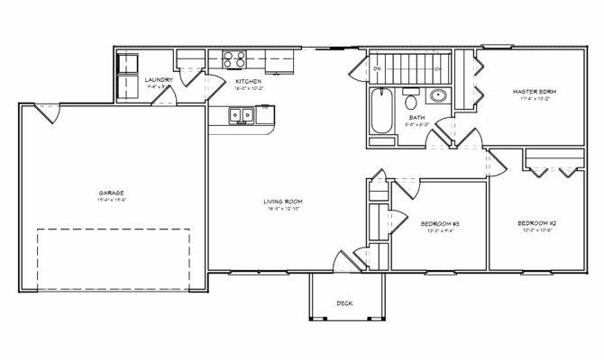 House Plan Small Bedroom Ranch