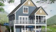 House Plan Walkout Basement Open Floor Fireplace Sloped