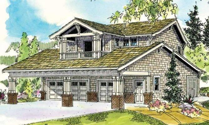 House Plans Craftsman Style Garage Apartment Plan Car