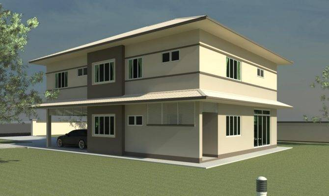 House Plans Design Modern Double Storey