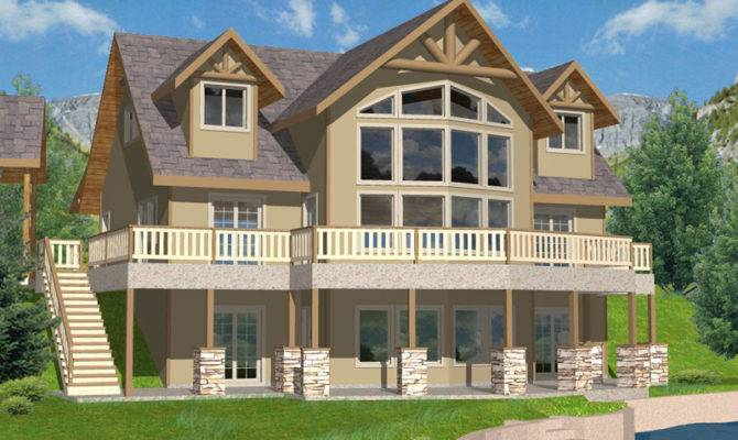 House Plans Lake Mountain Home Rustic