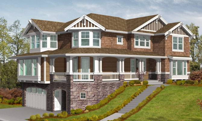 Sloping lot house plans modern
