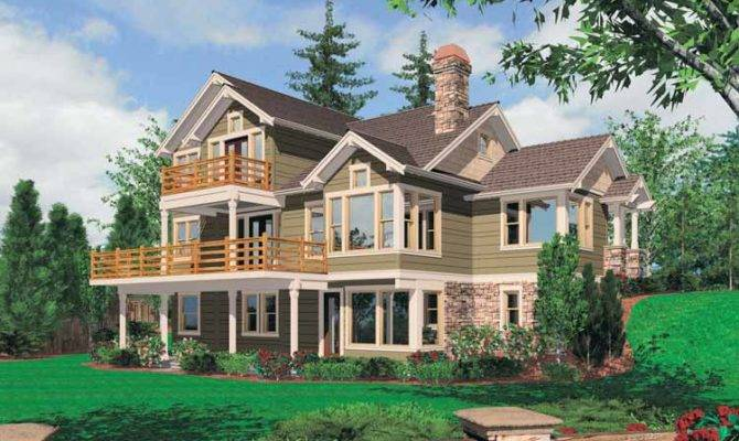 House Plans Name Sloping Lot Hillside Home