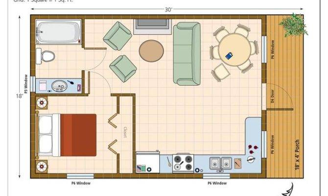 House Plans Pinterest One Bedroom Floor