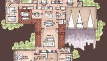 House Plans Shaped Courtyards First Floor Plancopyright