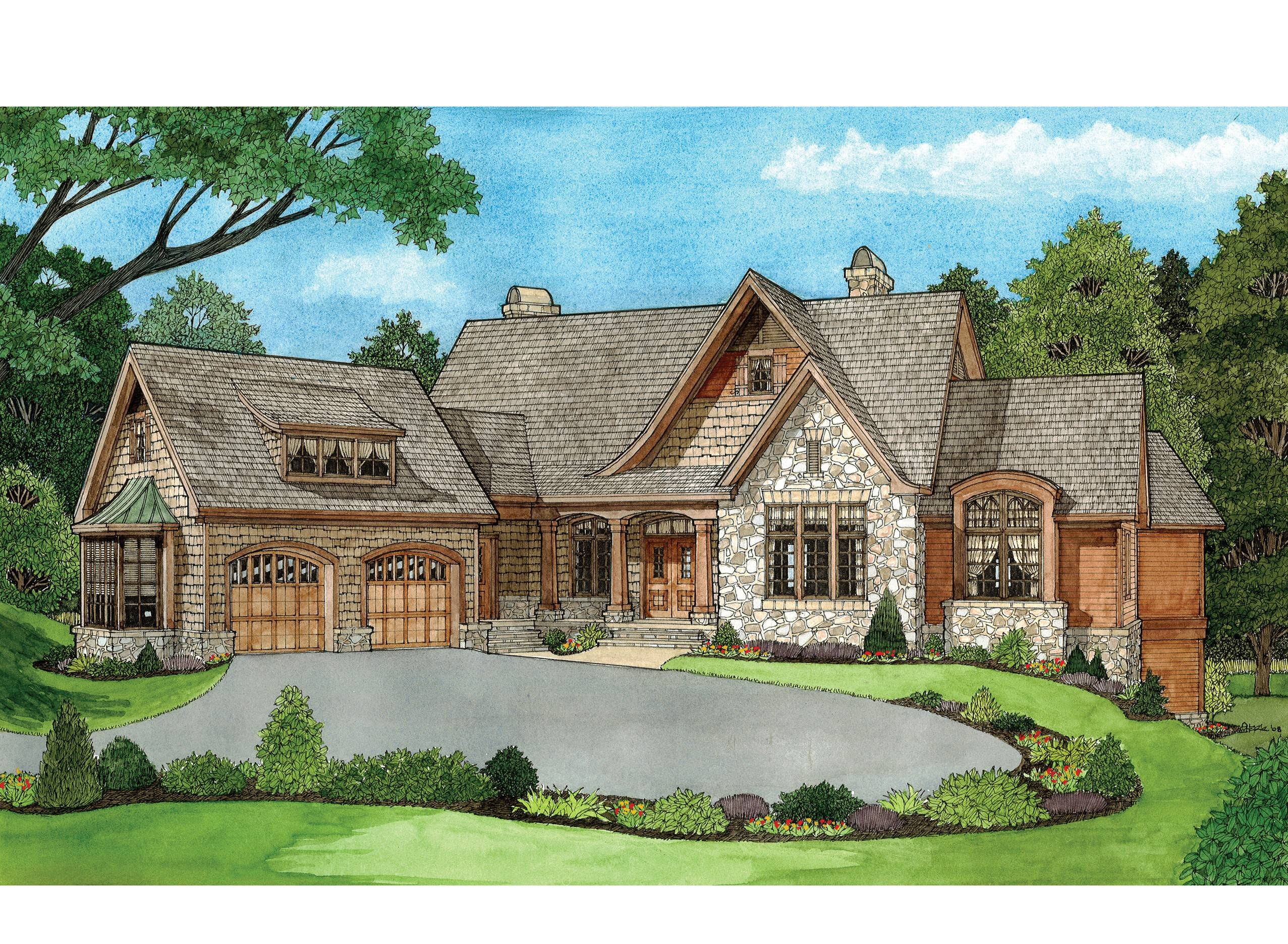 sophisticated Country French House Plans e Story Best