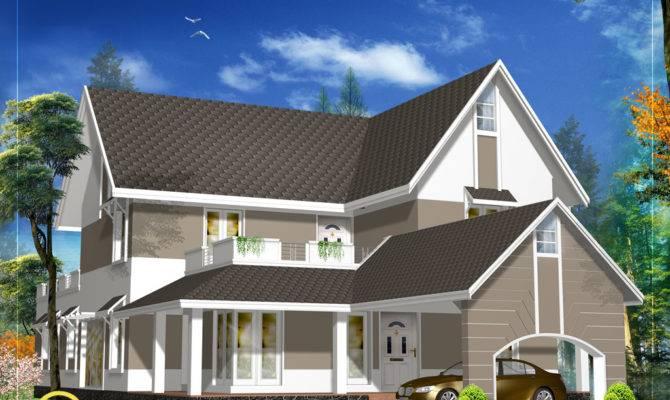 House Roof Design Beautiful Sloping Plan
