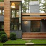 House Wooden Material Exterior Simple Rectangular Shape