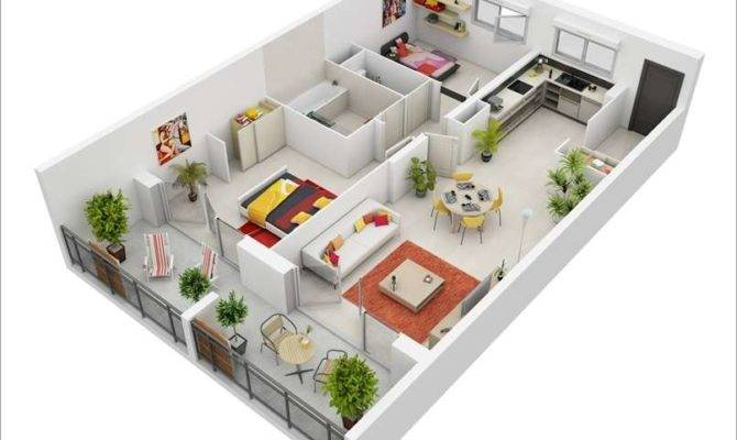 Interior Design Awesome Two Bedroom Apartment Floor Plans