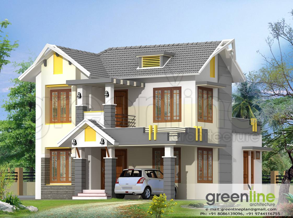 Kerala house model elevations