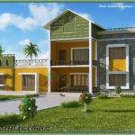 Kerala House Model Sloping Roof Elevation