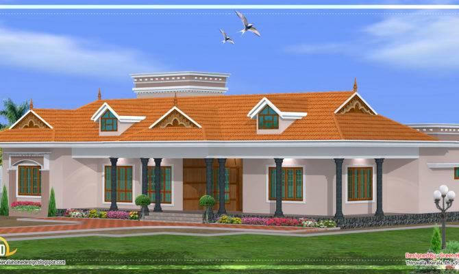 Kerala Single Story House Model Home Appliance