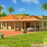 Kerala Style Single Floor House Architecture Square Meter