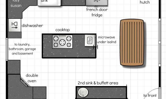 Kitchen Designs Open Living Space Modern Floor Plans
