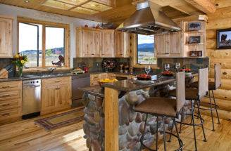 Kitchen Log Home