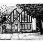 Kyle Frink Sketch Blog Charcoal House Drawing
