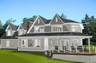 Lake Huron New England Style House