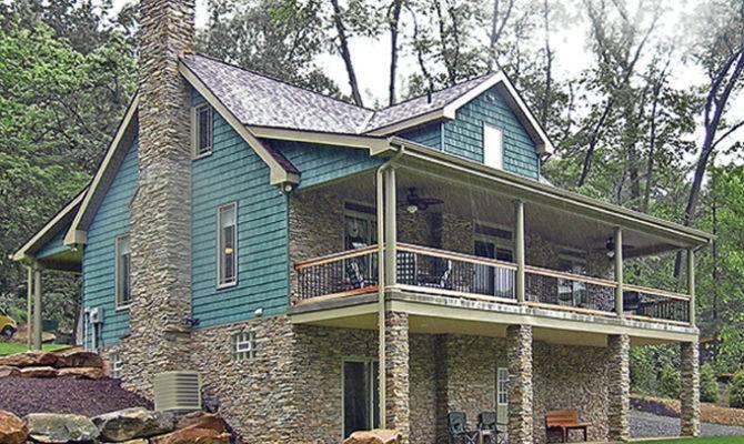 Lakefront House Plans Walkout Basement