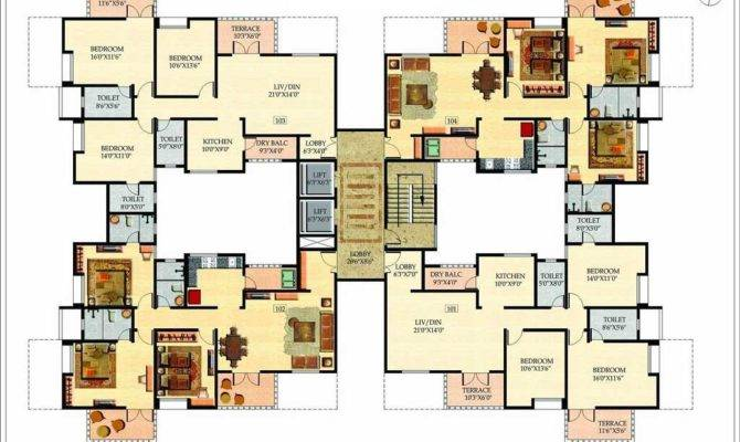 Large House Plans Multi Modern Feature Homescorner