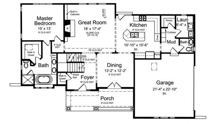 Large Mud Room Cubbies Hwbdo Craftsman House Plan