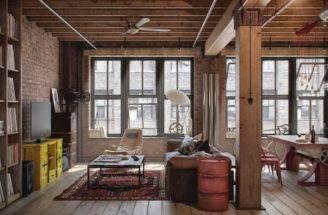 Let Stay Cool Industrial Loft Design