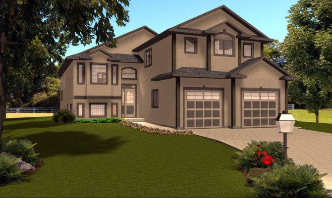Level House Plans Garage Designs