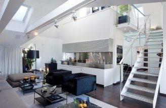 Living Contemporary Loft Apartment Practical Room