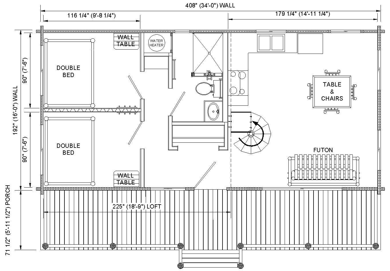 Log Cabin Floor Plan Loft