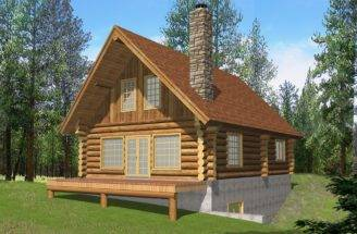 Log Cabin Home Designs Floor Plans