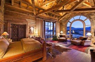 Log Cabin Master Suite Dream Homes Pinterest