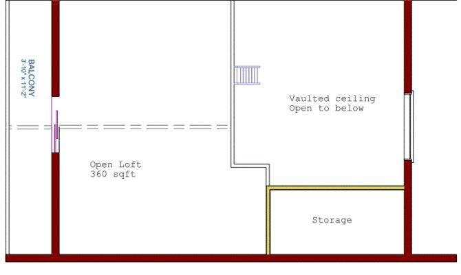 Log Cottage Floor Plan Loft